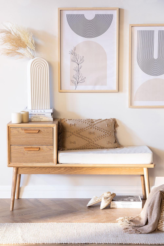Berkem MDF Bench with Drawers, gallery image 1