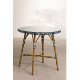 Round Garden Table in Synthetic Wicker (Ø80 cm) Alisa, thumbnail image 1