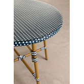 Round Garden Table in Synthetic Wicker (Ø80 cm) Alisa, thumbnail image 2