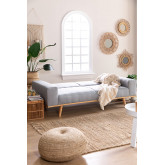 Hesson 3 Seater Linen Sofa Bed, thumbnail image 2