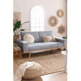 Hesson 3 Seater Linen Sofa Bed, thumbnail image 1