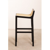 High Stool with Wooden Backrest Mikel, thumbnail image 2