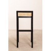 High Stool with Wooden Backrest Mikel, thumbnail image 3