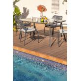 Outdoor Table in Glass & Aluminum Arhiza (160x90 cm) , thumbnail image 6
