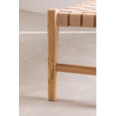 Wood & Leather Bench Zaid, thumbnail image 4