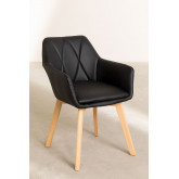 Pack of 2 Upholstered Dining Chairs Marh Style , thumbnail image 2