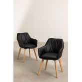 Pack of 2 Upholstered Dining Chairs Marh Style , thumbnail image 1