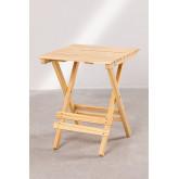 Square Foldable Wooden Side Table Bhêl, thumbnail image 2
