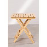 Square Foldable Wooden Side Table Bhêl, thumbnail image 3
