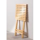 Square Foldable Wooden Side Table Bhêl, thumbnail image 4