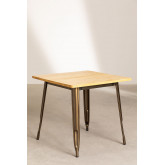 Square Wood Dining Table (80x80) LIX Brushed, thumbnail image 1