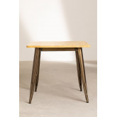 Square Wood Dining Table (80x80) LIX Brushed, thumbnail image 2