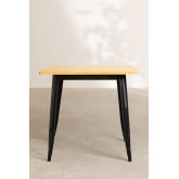 Vintage Wooden LIX Table (80x80), thumbnail image 3