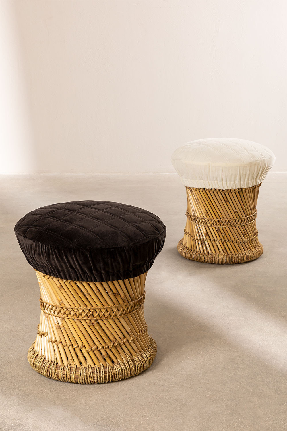 Low Bamboo Stool Thëss, gallery image 1