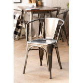 Brushed LIX Chair with Armrests, thumbnail image 1
