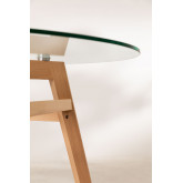Dining Table in Glass and Beech Wood (Ø80 -Ø120 cm) Scand Nordic , thumbnail image 5