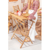 Side Table with Tray in Bamboo Tonga, thumbnail image 1