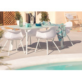 Adel Table & 4 Garden Chairs with Adel Arms Set, thumbnail image 1