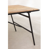 Rectangular Wood Dining Table (200x91cm) Nathar Style, thumbnail image 4