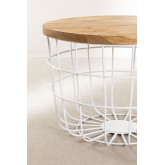 Round Coffee Table in Recycled Wood and Steel (Ø62 cm) Ket, thumbnail image 3