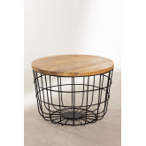 Round Coffee Table in Recycled Wood and Steel (Ø62 cm) Ket, thumbnail image 2