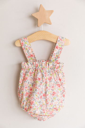 Mikko Flowers Cotton Dungarees