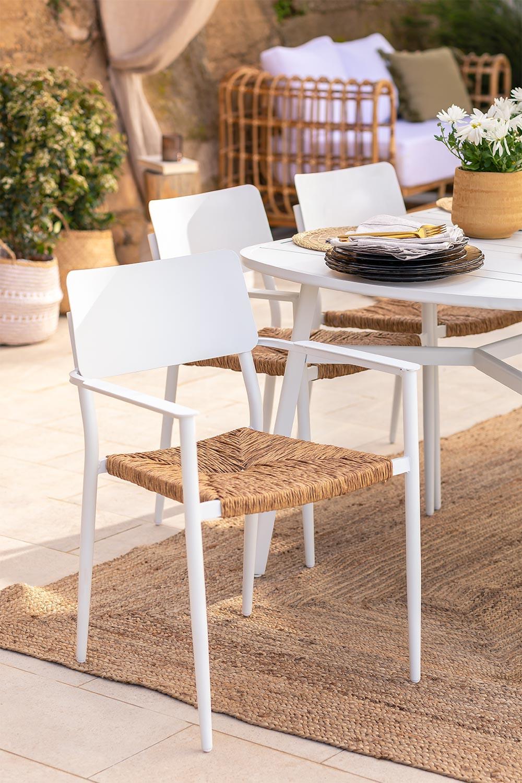 Pack 2 Amadeu Aluminum Garden Chairs, gallery image 1