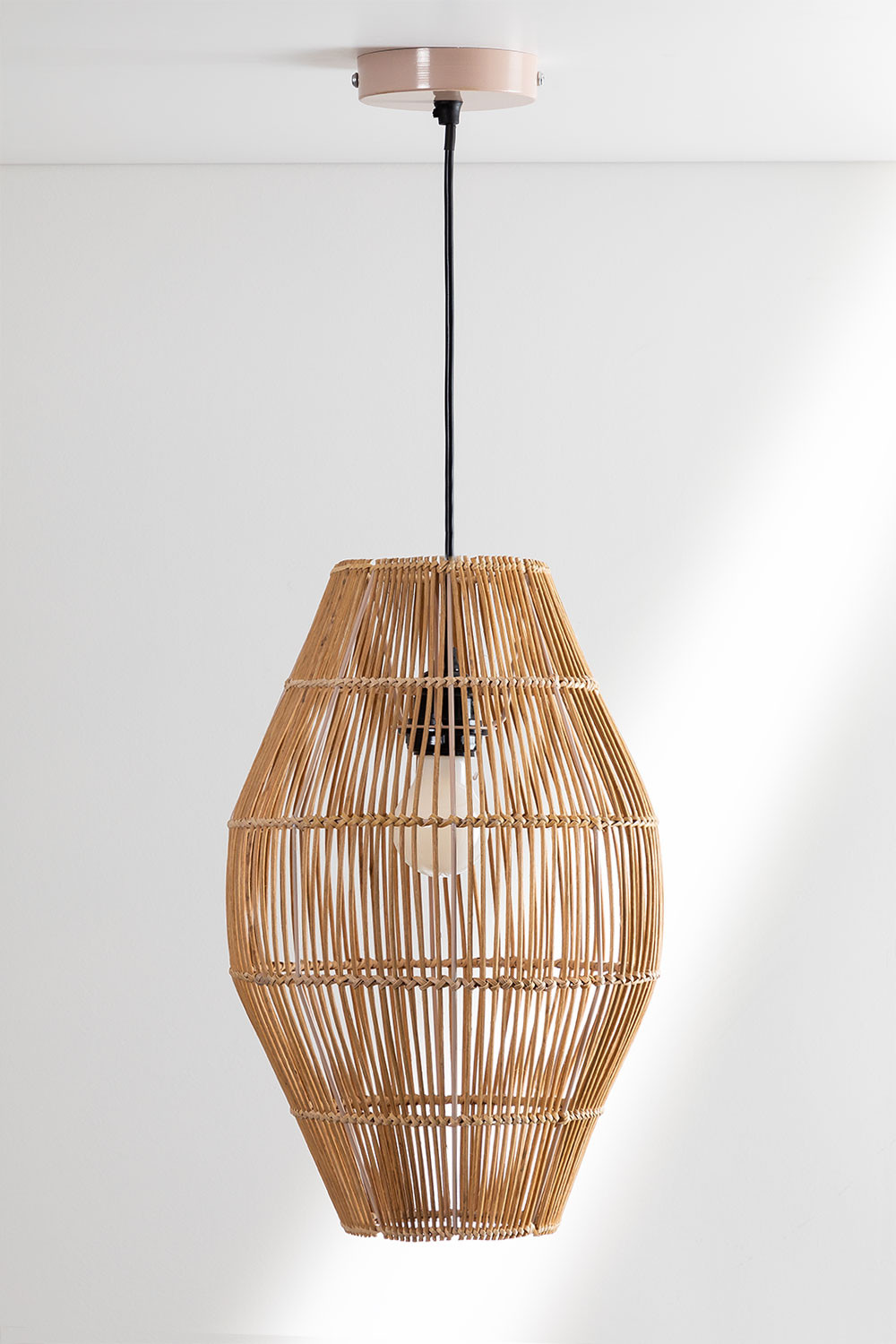 Khumo Bamboo Ceiling Lamp, gallery image 1