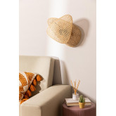 Ruly Rattan Wall Sconce, thumbnail image 2