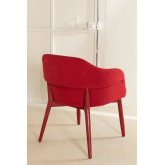 Poles Wood Dining Chair with Armrests, thumbnail image 3
