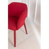 Poles Wood Dining Chair with Armrests, thumbnail image 4