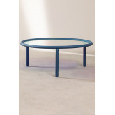 Center Table in Iridescent Glass & Steel Disk, thumbnail image 1