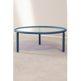 Center Table in Iridescent Glass & Steel Disk, thumbnail image 2