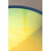 Center Table in Iridescent Glass & Steel Disk, thumbnail image 3