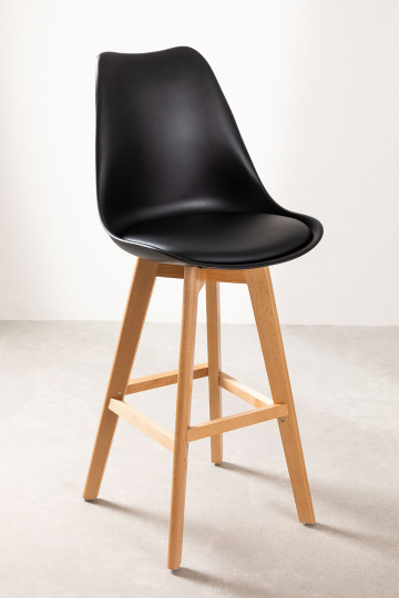 Pack of 2 or 4 Nordic High Stools (67 cm / 76 cm)