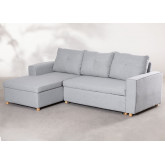 3 Seater Fabric Sofa Bed- Chaise Longue Calvin, thumbnail image 1