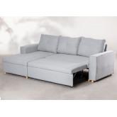 3 Seater Fabric Sofa Bed- Chaise Longue Calvin, thumbnail image 4