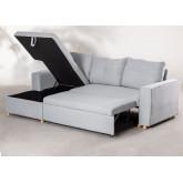 3 Seater Fabric Sofa Bed- Chaise Longue Calvin, thumbnail image 5