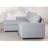 3 Seater Fabric Sofa Bed- Chaise Longue Calvin, thumbnail image 6