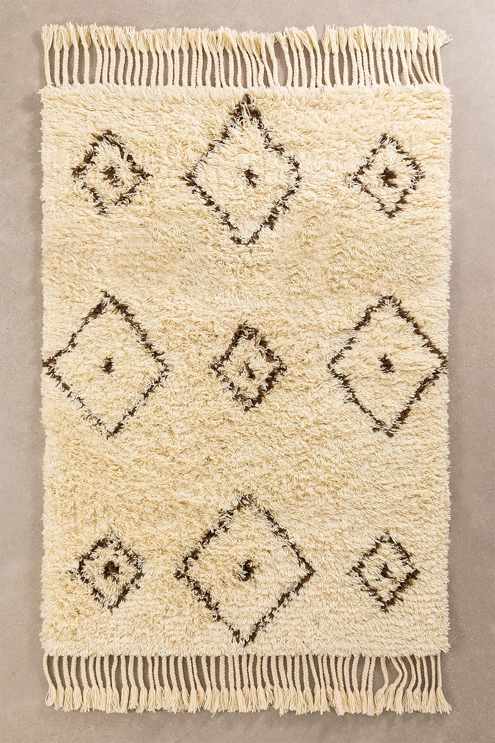 Cotton and Wool Rug (215x125 cm) Ariana, gallery image 1