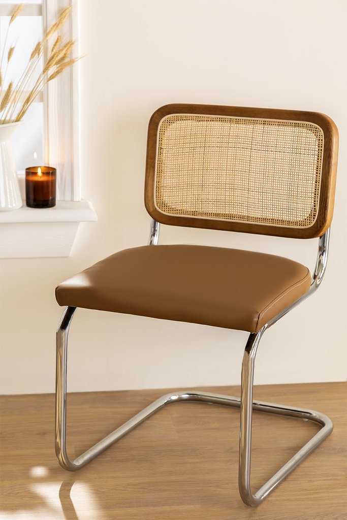 Tento Vintage Leatherette Dining Chair, gallery image 1