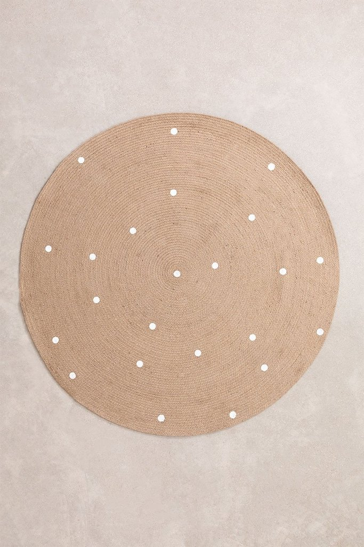 Round Natural Jute Rug (Ø150 cm) Naroh, gallery image 1