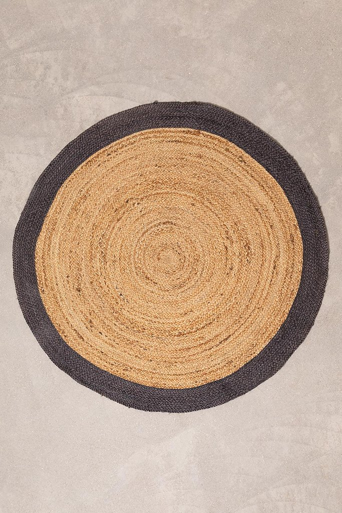 Round Natural Jute Rug Dagna Colors, gallery image 1