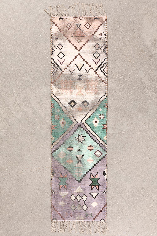 Jute & Fabric Hall Rug Nuada  (170x42,5 cm) , gallery image 1