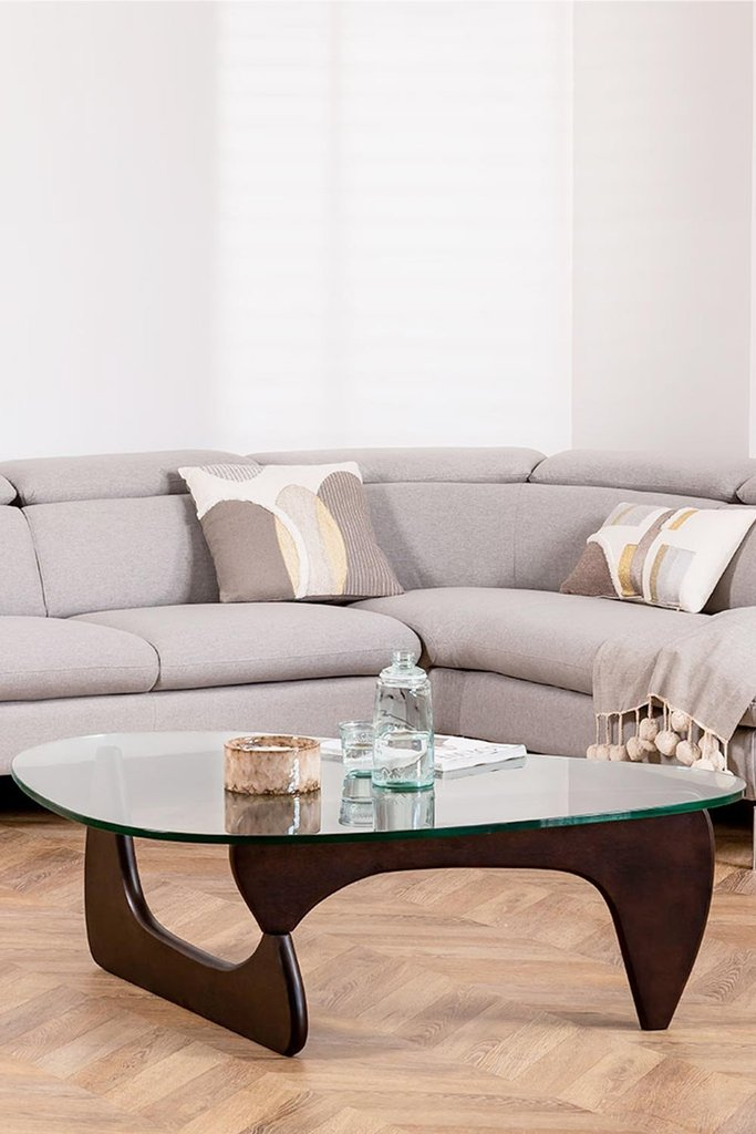Beech Wood & Glass Coffee Table Chi, gallery image 1