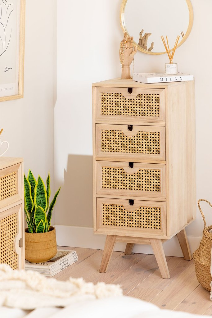 Ralik Style Wooden Chest of Drawers, gallery image 1