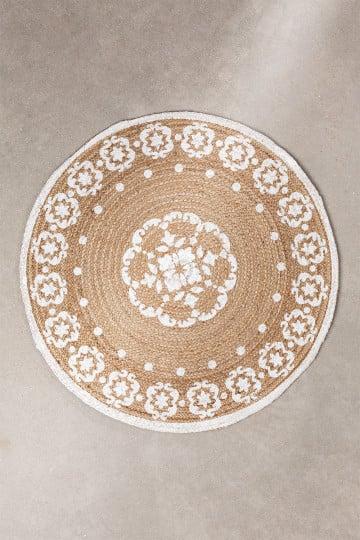 Round Natural Jute Rug (Ø100 cm) Iglika