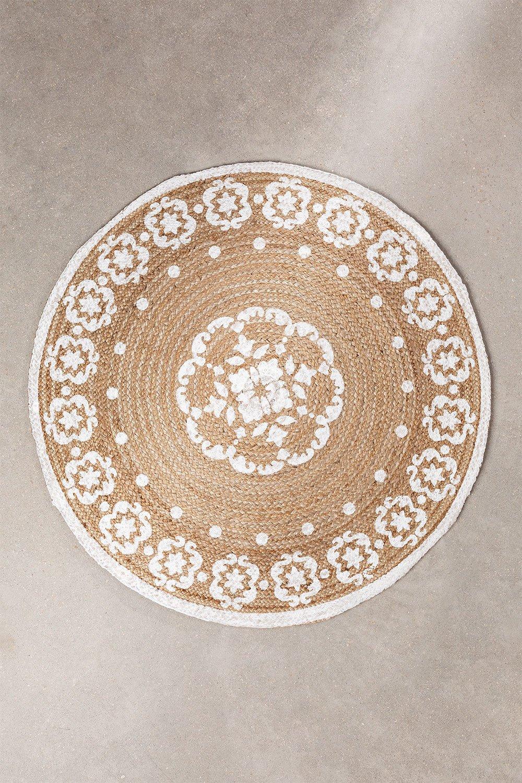 Round Natural Jute Rug (Ø100 cm) Iglika, gallery image 1