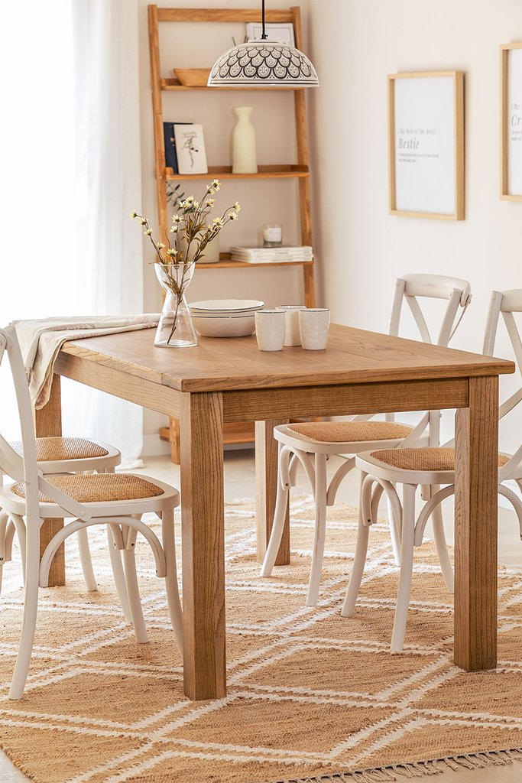 Rectangular Wooden Dining Table (150x85 cm) Alya, gallery image 1