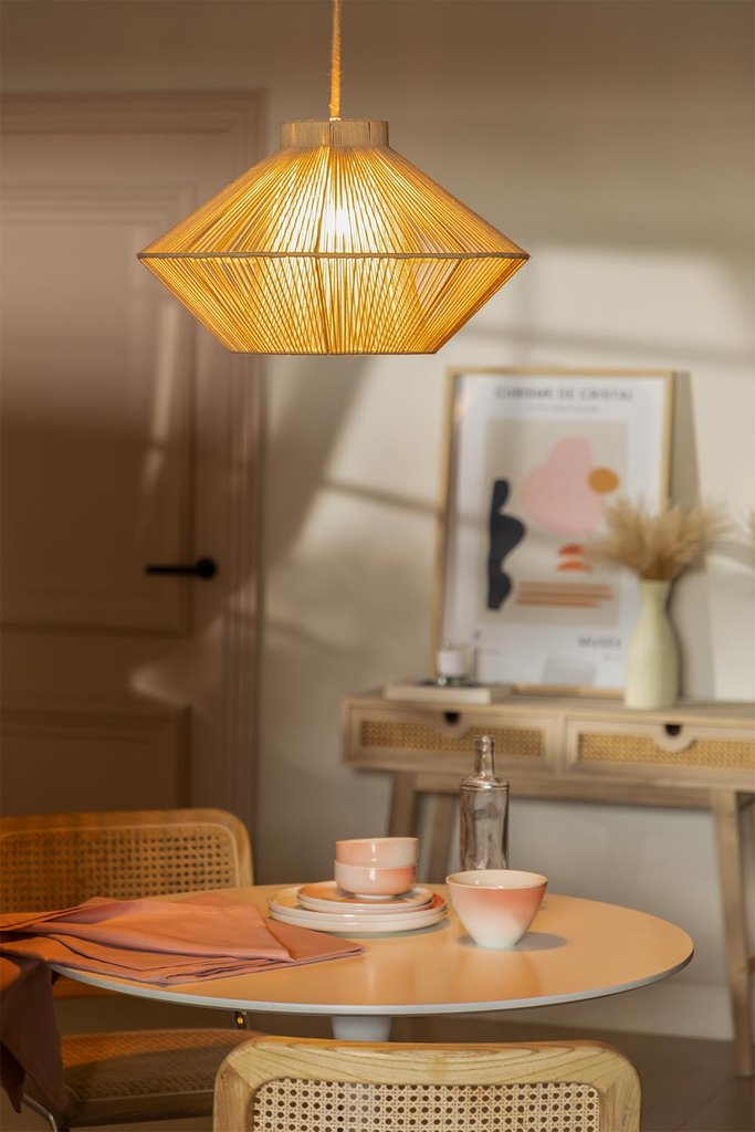 Cotton Rope Ceiling Lamp Ufo, gallery image 1